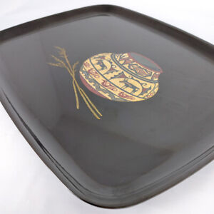 """Vintage Couroc handcrafted Monterey, CA Indian Pottery Inlaid Serving Tray 12.5"""""""