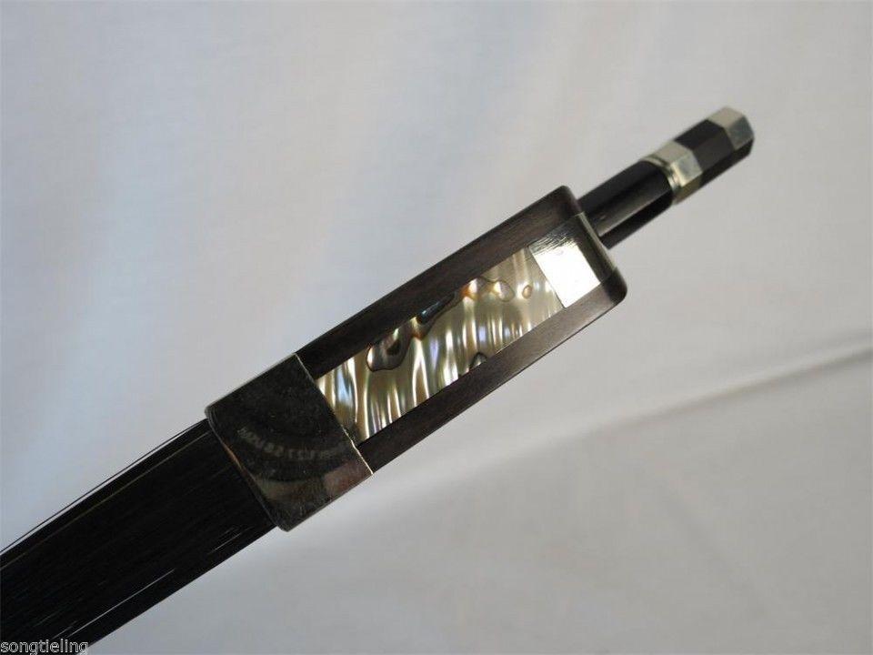 Francia estilo equilibrado de fibra de de de carbono contrabajo arco Crin 3 4, Negro 51e057