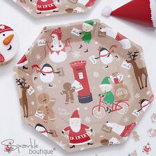 SANTA & FRIENDS CHRISTMAS PAPER PLATES -Xmas Party-Elf/Snowman Etc-RANGE IN SHOP
