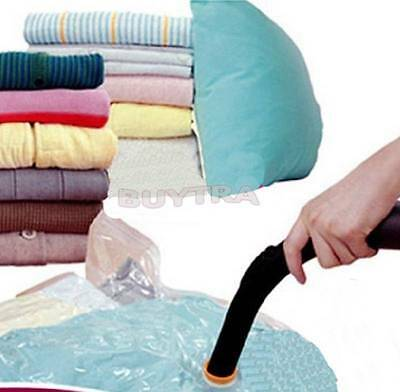 NEW LARGE SPACE SAVING STORAGE VACUUM BAGS CLOTHES BEDDING ORGANISER UNDER BED #