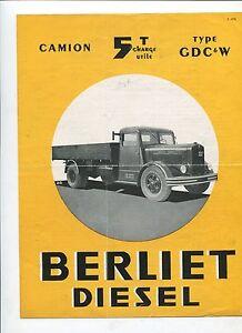 N-8643-BERLIET-depliant-camion-type-GDC-6-W-P-1173-12-49