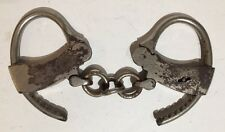 Pair of Antique Vintage Handcuffs • Mattatuck Mfg. Co. Waterbury Conn.