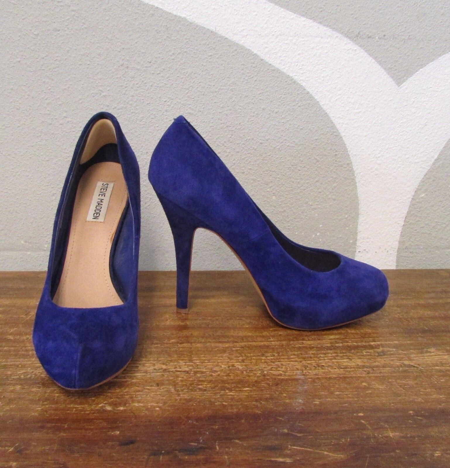 STEVE MADDEN 9.5 TRAISIE Grape Purple Suede Leather TRAISIE 9.5 Platform Pumps High Heels f00f62