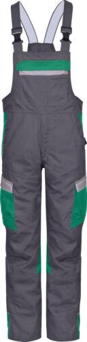 Bullstar Latzhose Arbeitshose Hardwork grün//grau Gr 50