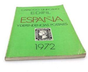 Catalogo-Edifil-Sellos-1972-Espana-Y-Dependencias-Postales