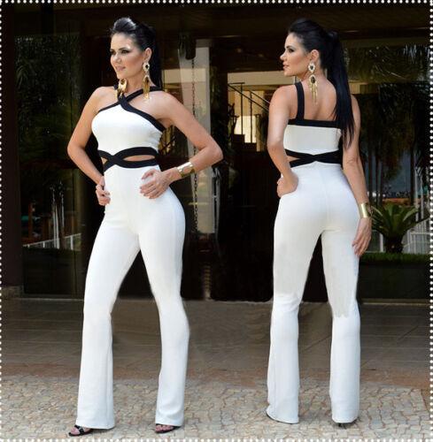 abito tuta intera bianco nero elegante comodo leggero pantaloni  4474