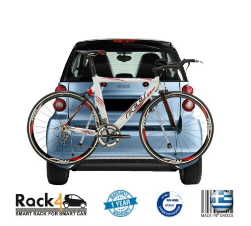 RACK4SMART SMART FORTWO 450 451 453 COUPE CABRIO BICYCLE SKI  RACK SECURE