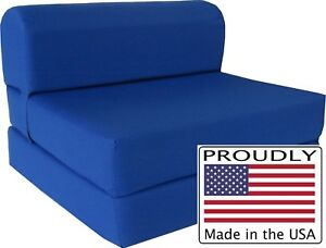 Details about Royal 6 x 36 x 70 Twin Sleeper Chair Folding Foam Bed, Foam  Density 1.8 lbs