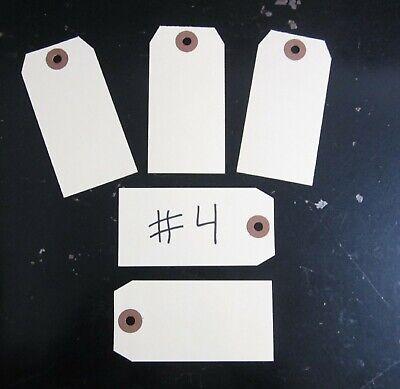 "25 MANILLA BLANK SHIPPING INVENTORY HANG TAGS  #4 TRADE SIZE 4 1//4/"" BY 2 1//8/"""