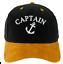 Captain Baseball Cotton Mens Women Family Black Gold Cap Officers Captain White