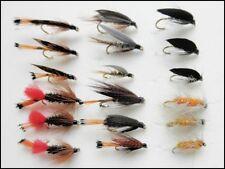 18 Wet Trout Flys,Hares Ear,Mallard,Ke-He,Grenadier,Magpie,Grouse, Fly Fishing