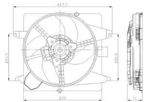Fan, radiator NRF 47259