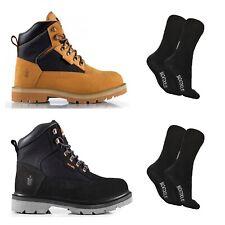 Scruffs TWISTER Safety Hiker Work Boots Black//Tan Steel Toe Cap Sizes 7-12