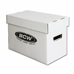 Bundle-x10-BCW-Short-Cardboard-Comic-Storage-Box-Holds-150-175-Comic-Books-Case