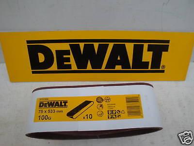 Dewalt Sanding Belts DT3628 75x533mm 100grit 3 Sheets