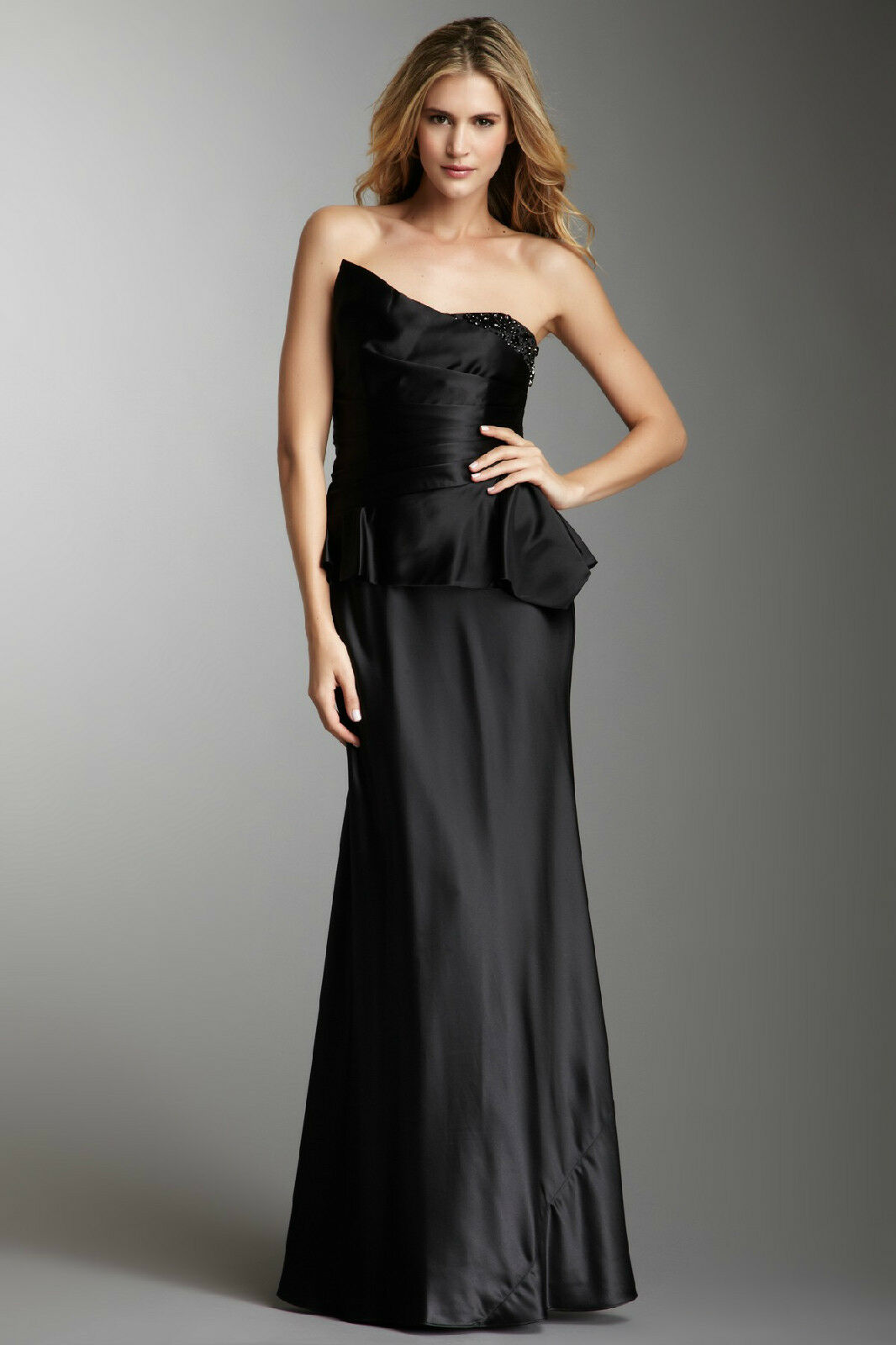 Laundry by Shelli Segal schwarz Strapless Formal Gown Dress Größe 2 NWT