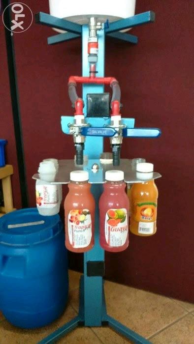 Water and Juice Bottling machine.