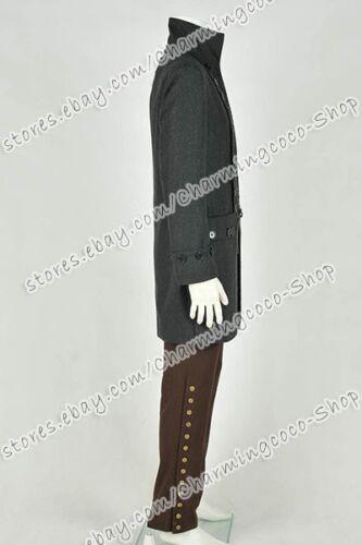 Sleepy Hollow Cosplay Ichabod Crane Costume Whole Set Trench Coat Mens Cool Suit