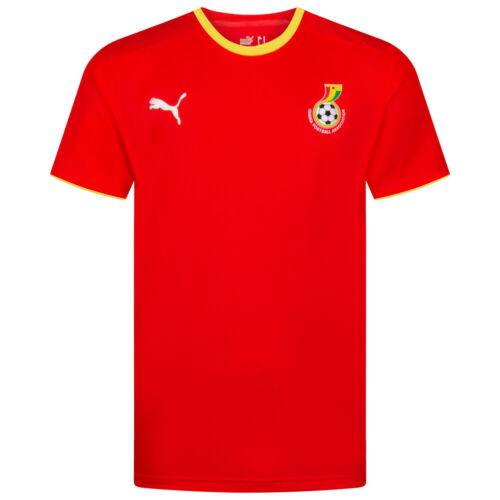 Ghana PUMA Herren Fußball Fan Trainings Kurzarm Trikot 735498 735495 gelb rot