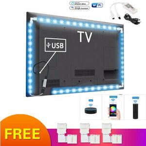 Smart-WiFi-DC5V-USB-RGB-LED-Strip-Light-for-Alexa-Amazon-Google-Home-Waterproof