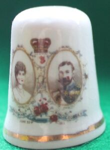 Queen Mary amp King George V fine bone china thimble no24 - <span itemprop=availableAtOrFrom>Norwich, Norfolk, United Kingdom</span> - Queen Mary amp King George V fine bone china thimble no24 - Norwich, Norfolk, United Kingdom
