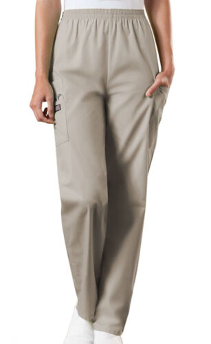 Khaki Cherokee Scrubs Workwear Natural Rise Pull On Cargo Pants 4200 KAKW