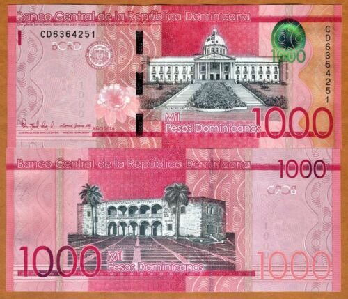 P-193-New 2017 1000 Pesos Dominicanos 2016 UNC Dominican Republic