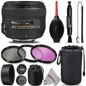 Nikon-AF-S-NIKKOR-50mm-f-1-4G-Lens-UV-FLD-CPL-Blower-Brush-Lens-Pen