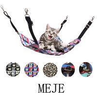 3 Types Animal Sleep Beds Adjustable Pet Cat Canvas Hammock Carrying Yard Tree