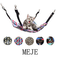 3 Types Animal Sleep Beds Adjustable Pet Cat Canvas Hammock Carrying Yard Tree