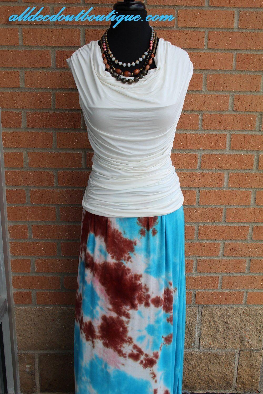 TPARTY   Maxi Skirt Skirt Skirt blueee Tie Dye 2ad615
