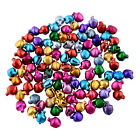 Mixed Multicoloured Mini Jingle Bells Charms 8 x 10mm Metallic Christmas Charms