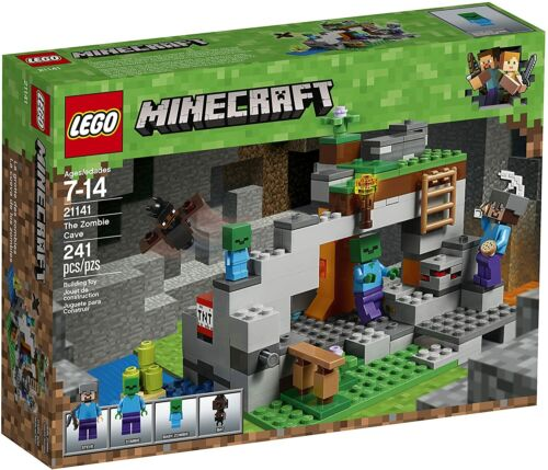 241 Piece LEGO Minecraft The Zombie Cave 21141 Building Kit