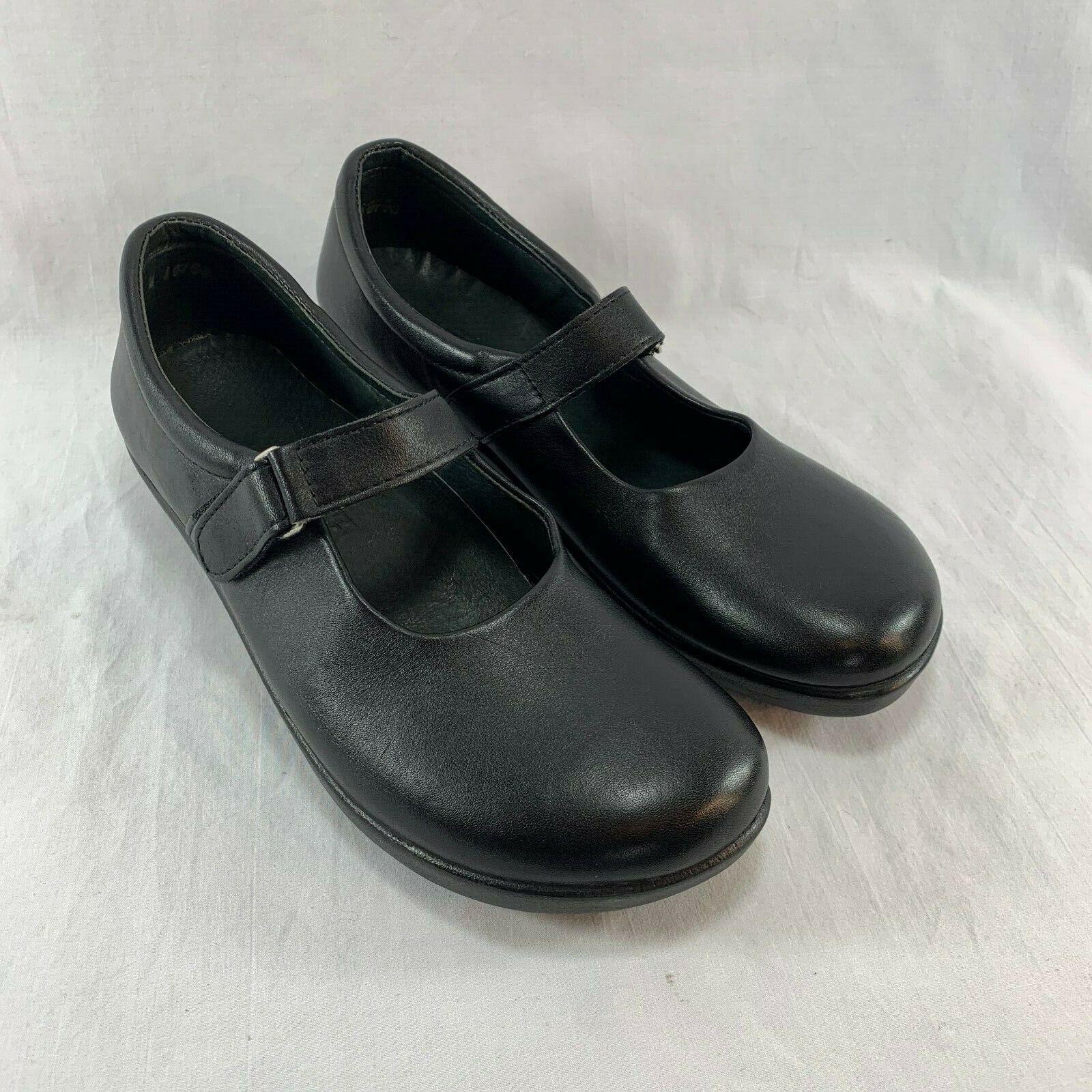 Ana Tech Fiona Orthopedic Maryjane Black Leather Shoes - Women's 11.5