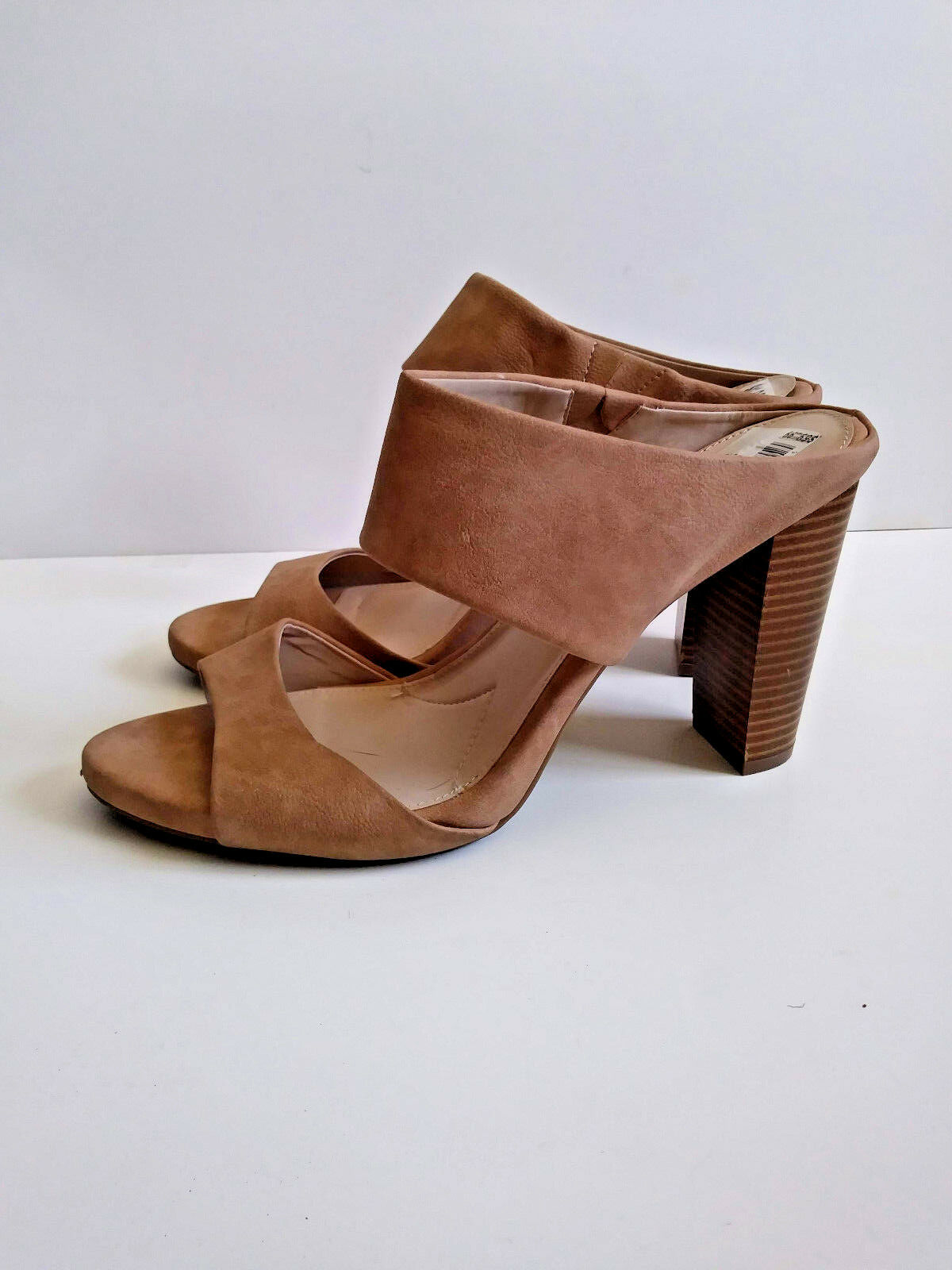 JENNIFER LOPEZ  Tan Nude Mule Sandal High Heels EXCELLENT