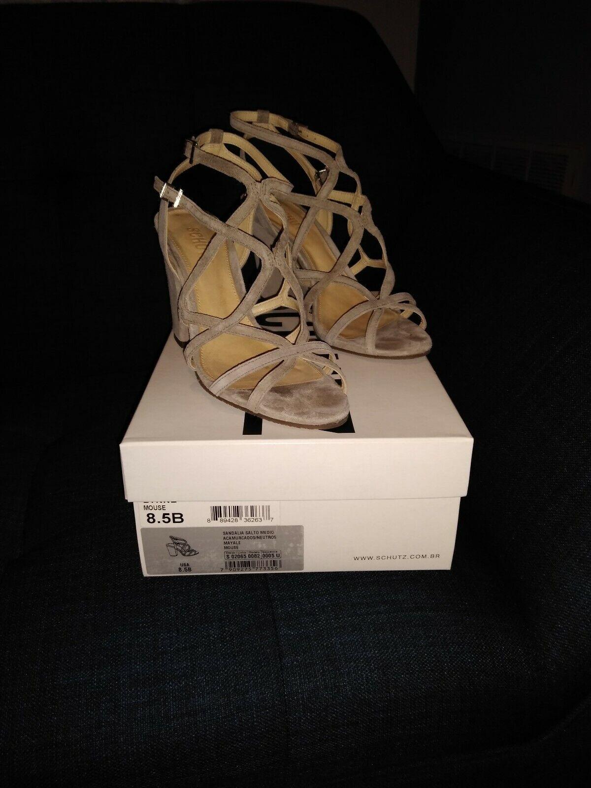 Shultz shoes grey strappy sandel