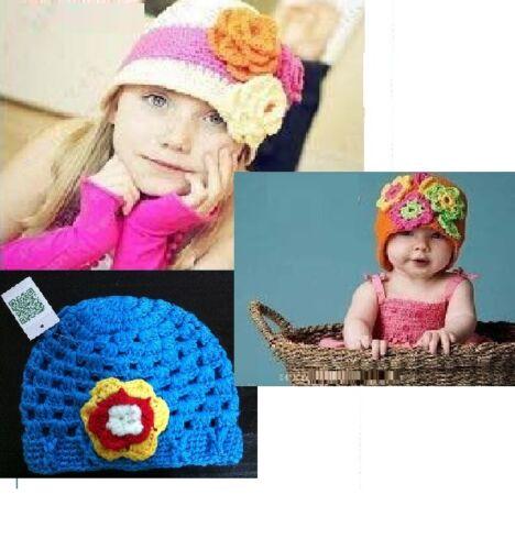 Baby Girls Handmade soft crochet beanie hat cap  0 to 12 months