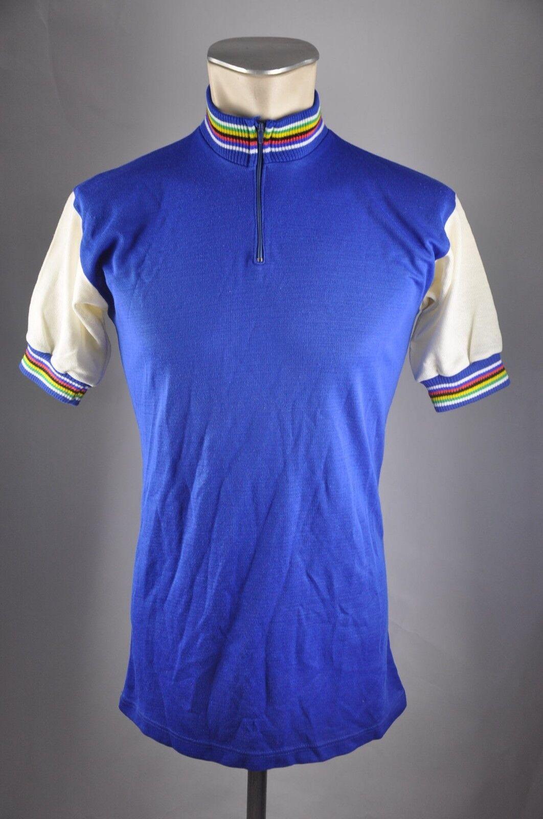 Vintage Akryl 80s Rad Trikot Gr. 5 50cm cykeltröja Shirt DA4