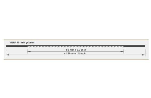 and weichmetall wera 75 12 saw blade marquetry 130mm leicht