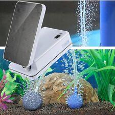 Solar Power Panel Oxygenator Oxygen Aerator Air Pump For Pool Pond Fish Tank New