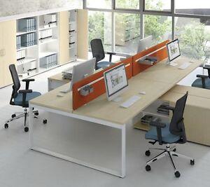 Eckschreibtisch für 2 personen  Schreibtisch mit Sideboard OGI_Q für 2 Personen Teamarbeitsplatz ...