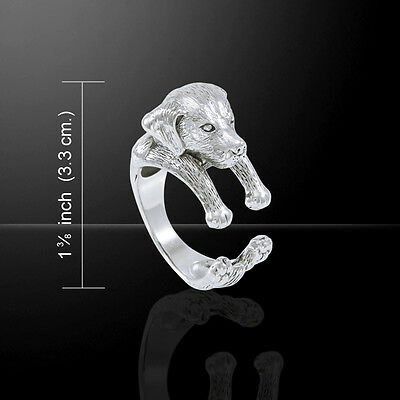 Poodle Dog .925 Sterling Silver Ring by Peter Stone