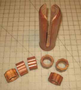 6-Vintage-JCS-Company-Wood-Carved-Napkin-Rings-with-Wood-Holder-Made-in-India
