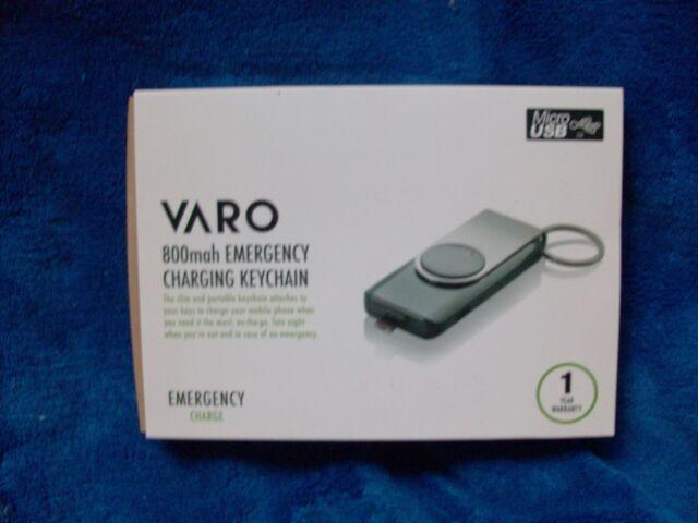VARO 800mah Emergency Charge Keychain Powerbank Micro USB