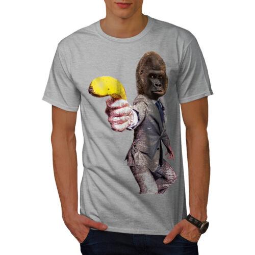 Wellcoda Monkey Gun Beast T-shirt homme Monkey Design graphique imprimé Tee