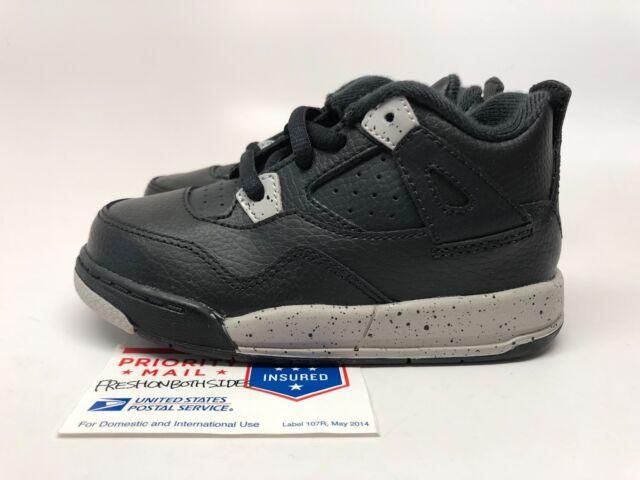 1dd117d568272d Nike Air Jordan Retro 4 IV Oreo Size 8c 8 Black Shoes Baby Toddler ...