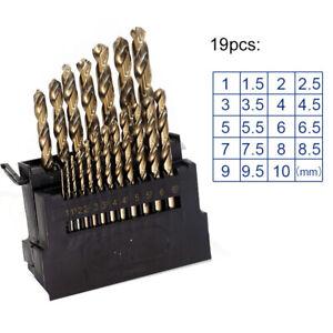 M42-HSS-8-High-Cobalt-Copper-Iron-Twist-Drill-Bit-For-Stainless-Metal-19pcs-Set