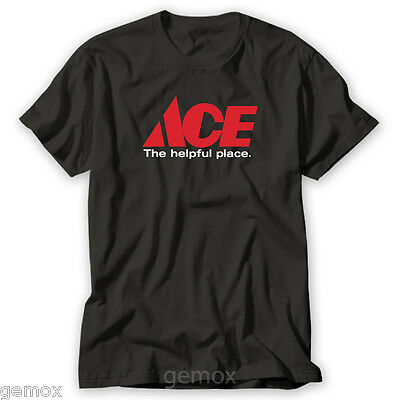 5XL New Ace Hardware Logo Black Men/'s T Shirt Size S