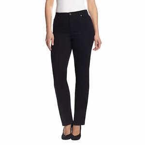 Gloria-Vanderbilt-Ladies-039-Amanda-Stretch-Denim-Jeans-BLACK-Select-Size