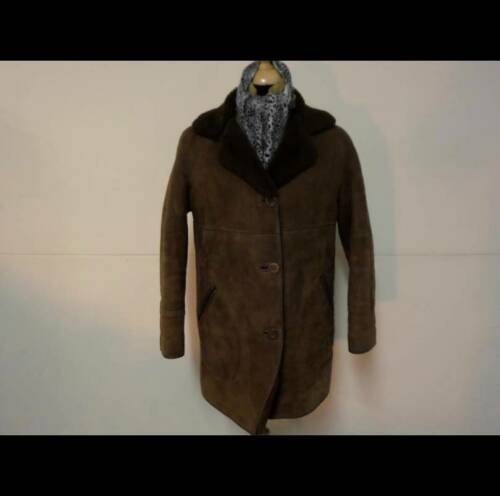 16 Taille 38 14 16 Marron Real 38 14 Size En Coat 36 Femme Womens Véritable De Manteau Brown Sheepskin 36 Peau Mouton xnUz0PwCpq